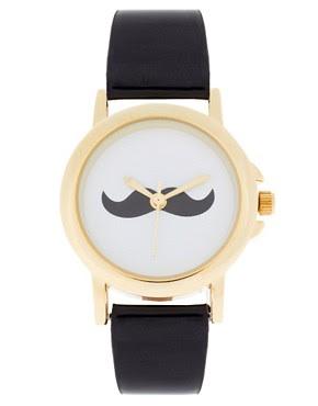 Image 1 ofASOS Moustache Face Watch