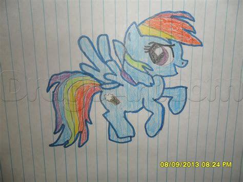 draw rainbow dash  mlp step  step anime