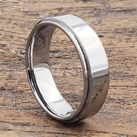 Obsession Step Down Edges Tungsten Wedding Bands   Forever