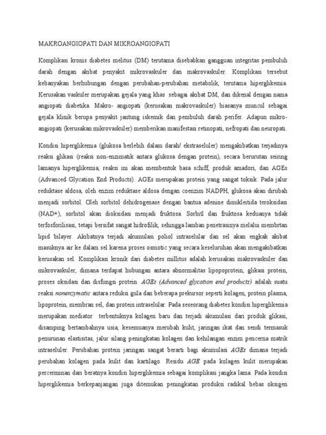 Makroangiopati Dan Mikroangiopati Dr Bambang