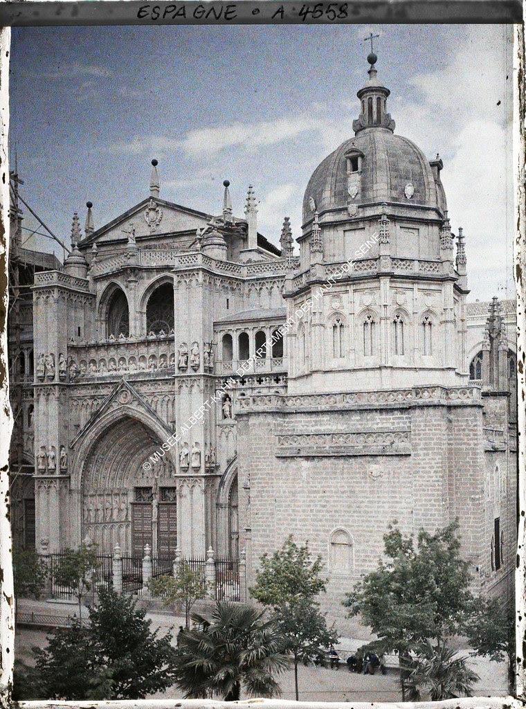 Catedral de Toledo entre el 15 y el 17 de junio de 1914. Autocromo de Auguste Léon. © Musée Albert-Kahn - Département des Hauts-de-Seine