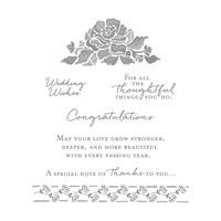 Floral Phrases Wood-Mount Stamp Set