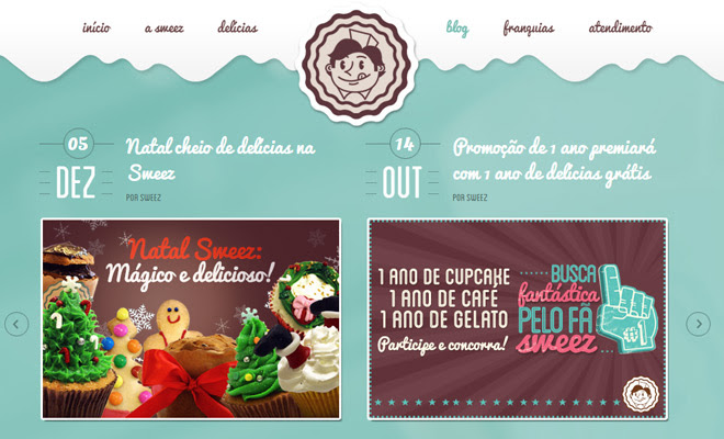sweez pastel colored website layout
