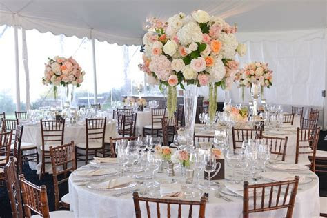 Reception Décor Photos   Tent Wedding Reception with Peach