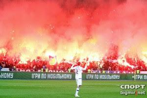 Болельщики Динамо устроили представление на 250 тысяч