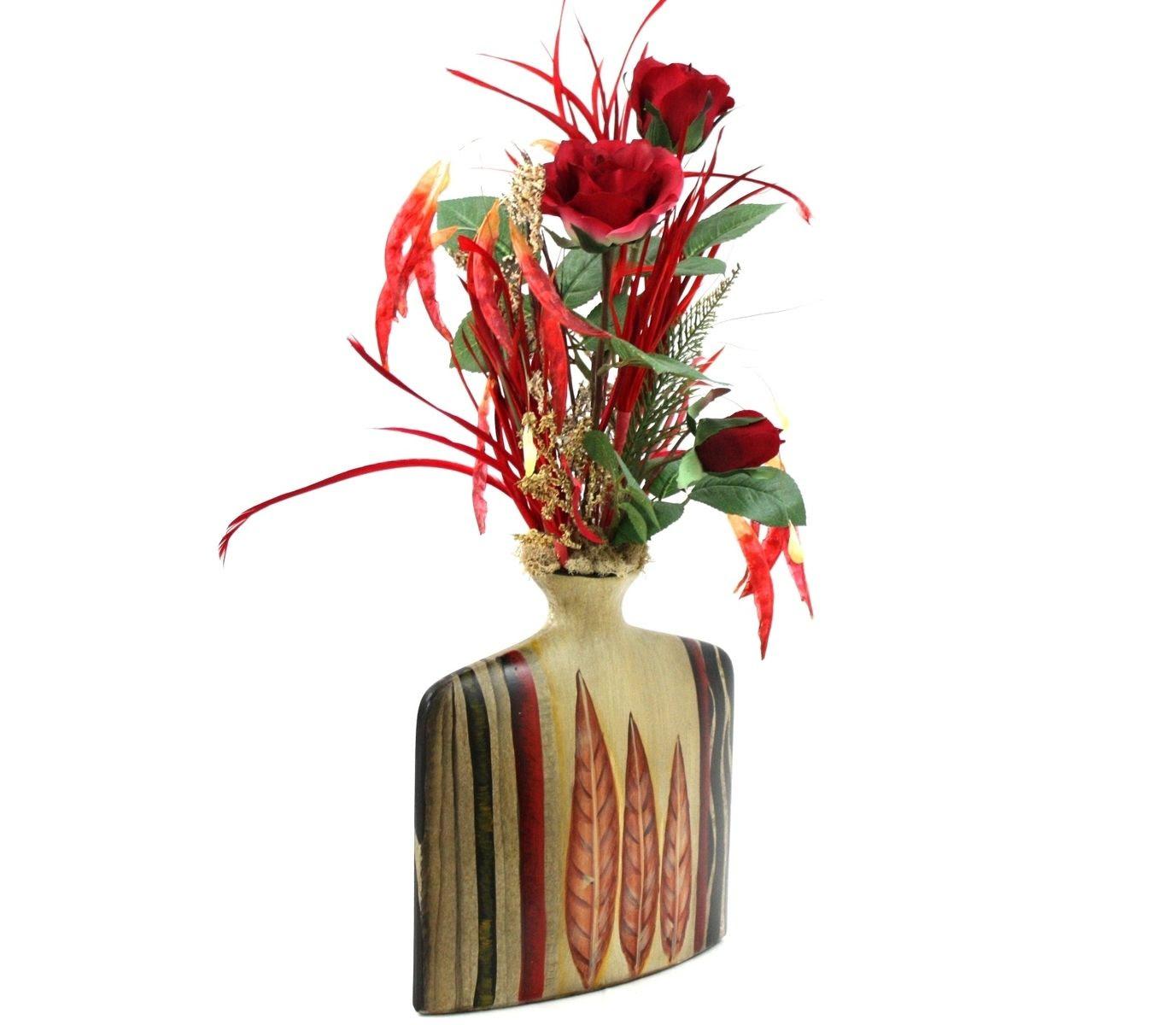 Hand Crafted Silk Flower Arrangement, Unique Home Decor ...