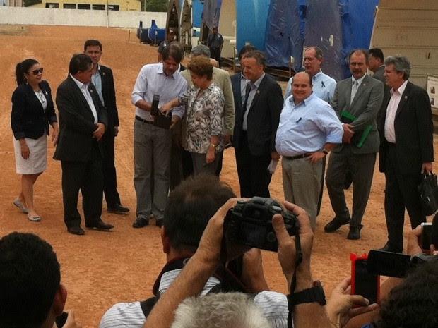 Dilma visita tuneladoras que vão fazer os túneis do Metrofor (Foto: Governo do Estado do Ceará/Divulgação)