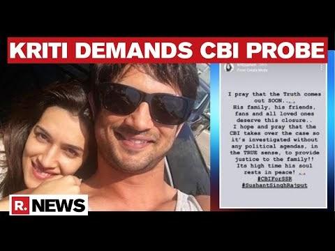 Kriti Sanon Voices Support For CBI