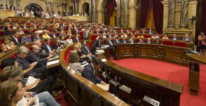 Pleno para la aprobación de las conclusiones de la comisión de estudio del Procés en el Parlament de Catalunya. JOB VERMEULEN
