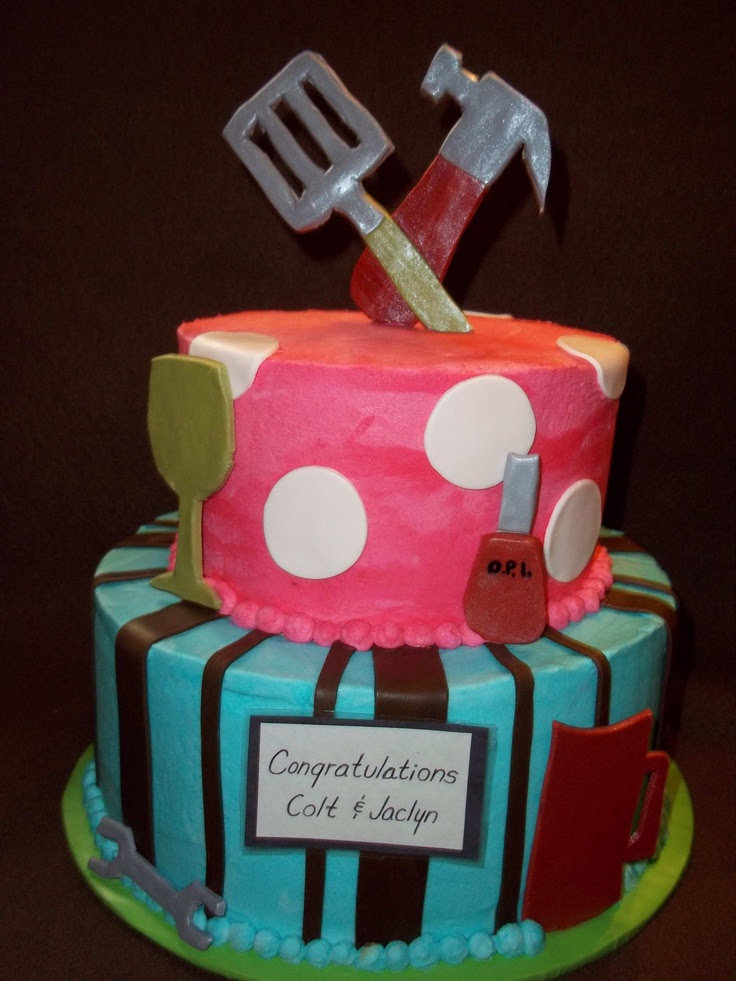 Couples Bridal Shower Cake