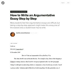 how to write an argumentative essay step by step