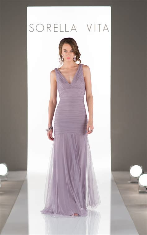 Plunging V Neckline Bridesmaid Dress   Sorella Vita