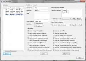 Configuration des comptes utilisateurs.