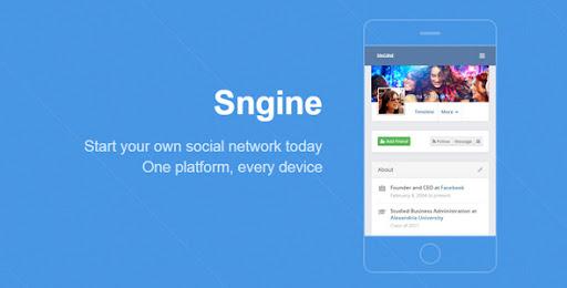 Share code mạng xã hội giống facebook, Sngine v2.5.8