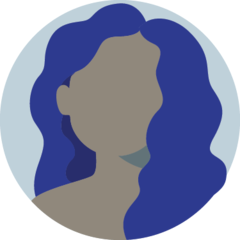 Icon of a woman with curly hair