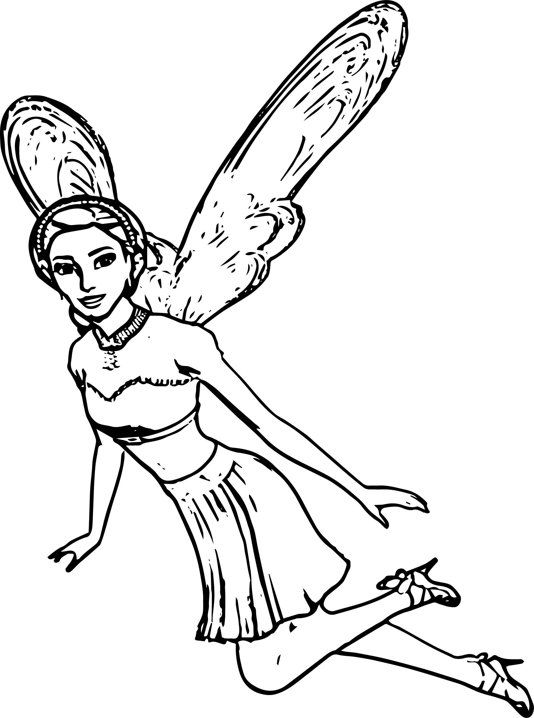 Angel Fly Barbie Coloring Page | Wecoloringpage.com