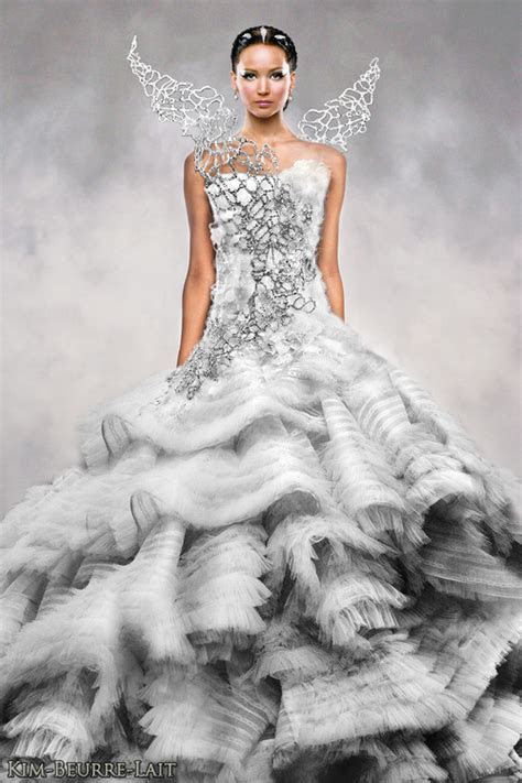Katniss Everdeen wedding dress   via Tumblr on We Heart It