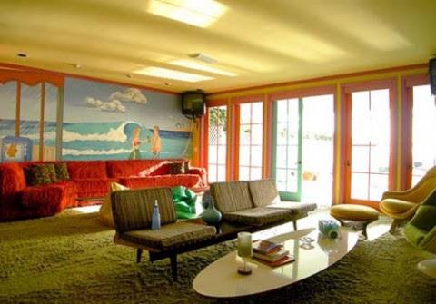 Estilo retro una colorida casa de playa3