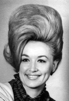Dolly Parton rocking a 60s bouffant