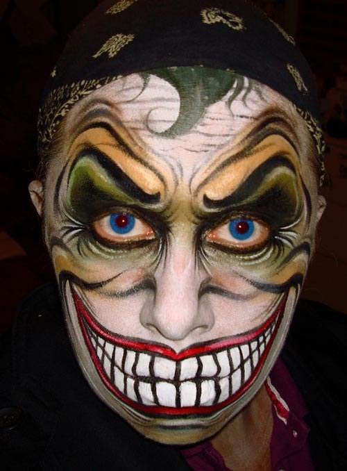 Halloween Face Painting Ideas for men women and kids - Cool Halloween Face Paint