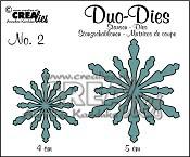Crealies Duo Dies Sneeuwvlok no. 2 / Crealies Duo Dies Snowflakes no. 2
