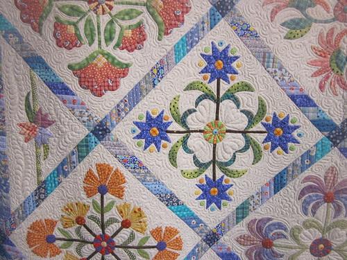 """Nana's Garden"" by Phyllis (Peggie) Wormington, close up"