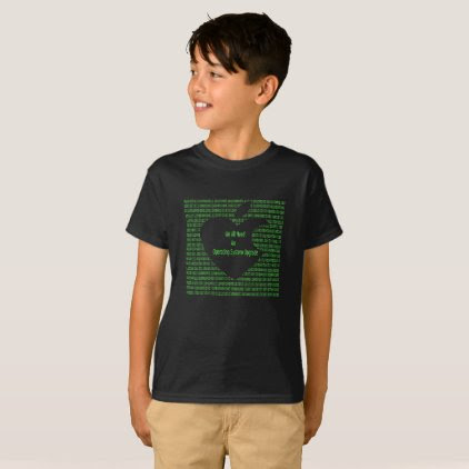 We All Need A System Upgrade Black Kid's T-shirt
