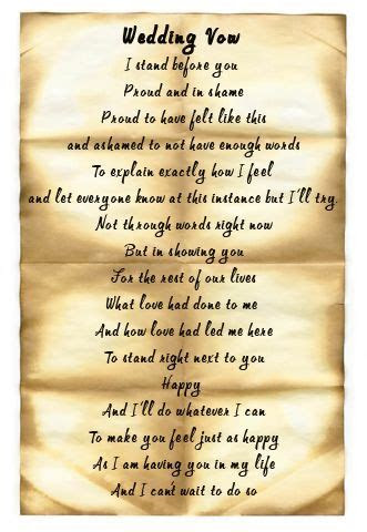 Wedding Ceremony Vows   Sample Marriage Vows   Wedding