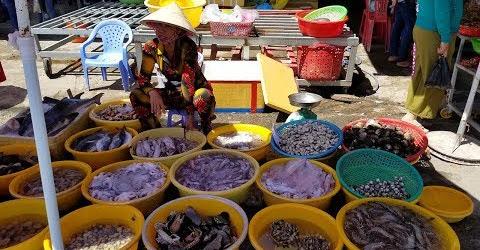 Chợ hải sản tươi ngon giá bình dân ở khu du lịch Miền Tây