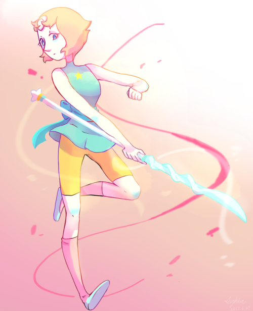 The first time I use Photoshop. It's soooo complex. つ´Д`)つ But I'll stell love you Pearl (♡´౪`♡)