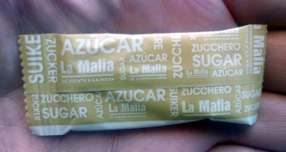 Sobrecito de azúcar sin dinamizar
