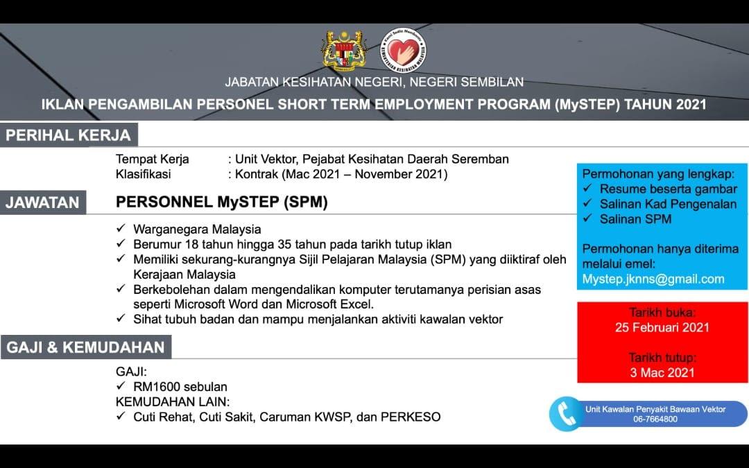 Iklan Jawatan Jabatan Kesihatan Negeri, Negeri Sembilan ...