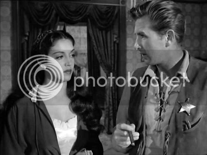 Katy Jurado and Lloyd Bridges in 'High Noon'