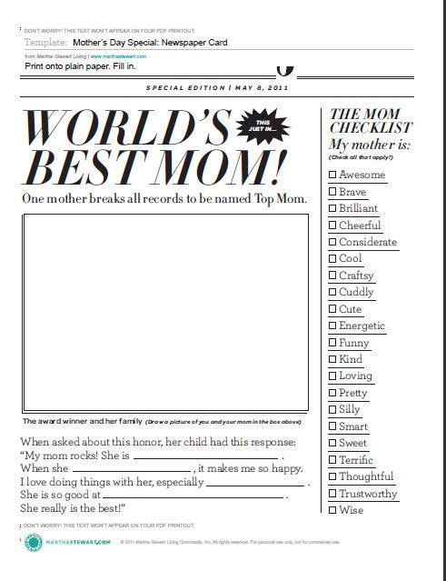 Día de la madre: Portada de periódico para Imprimir Gratis. | Ideas ...