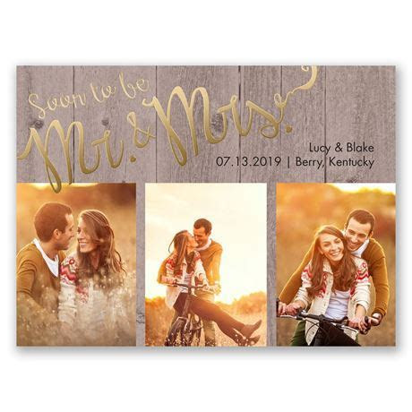 Soon to Marry Foil Save the Date Card   Invitations by Dawn
