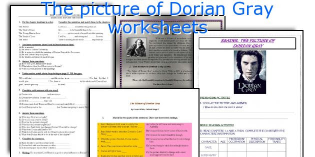English teaching worksheets: The picture of Dorian Gray