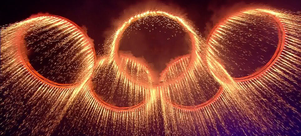 2012 Olympic Opening Ceremony Steel Forged Rings
