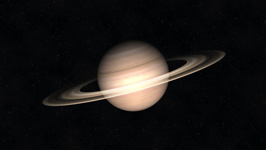 Realistic Imaging Of Saturn Planet With Rings In Space ...