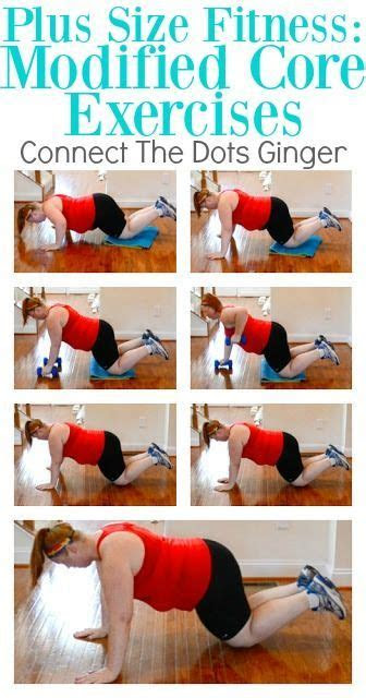 size fitness modified core exercises workouts