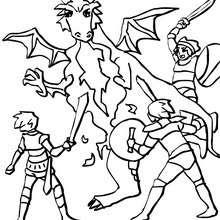Coloriages Dragon Qui Crache Du Feu Frhellokidscom