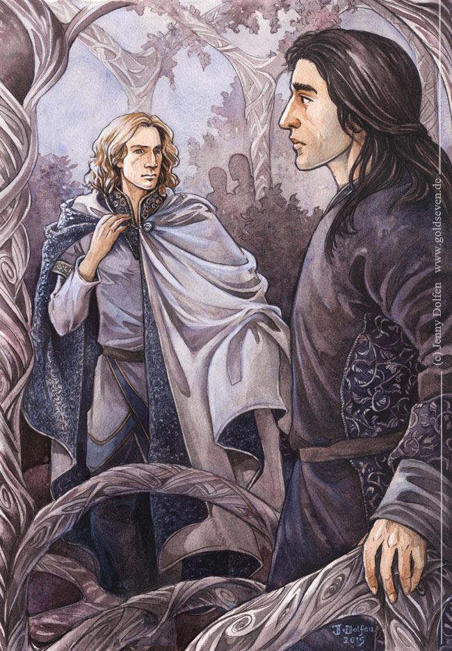'Glorfindel's return to Rivendell' by Jenny Dolfen