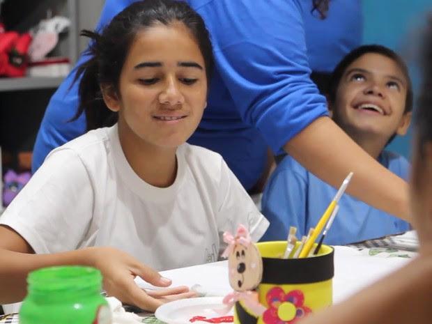 Crianças com deficiência intelectual ou múltiplas estudam na Apae de Roseira (Foto: Divulgação)