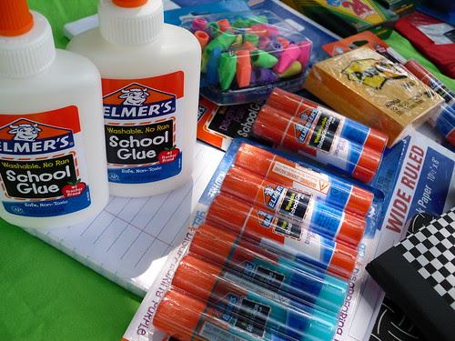 Elmer's glue is a staple. #BagItForward