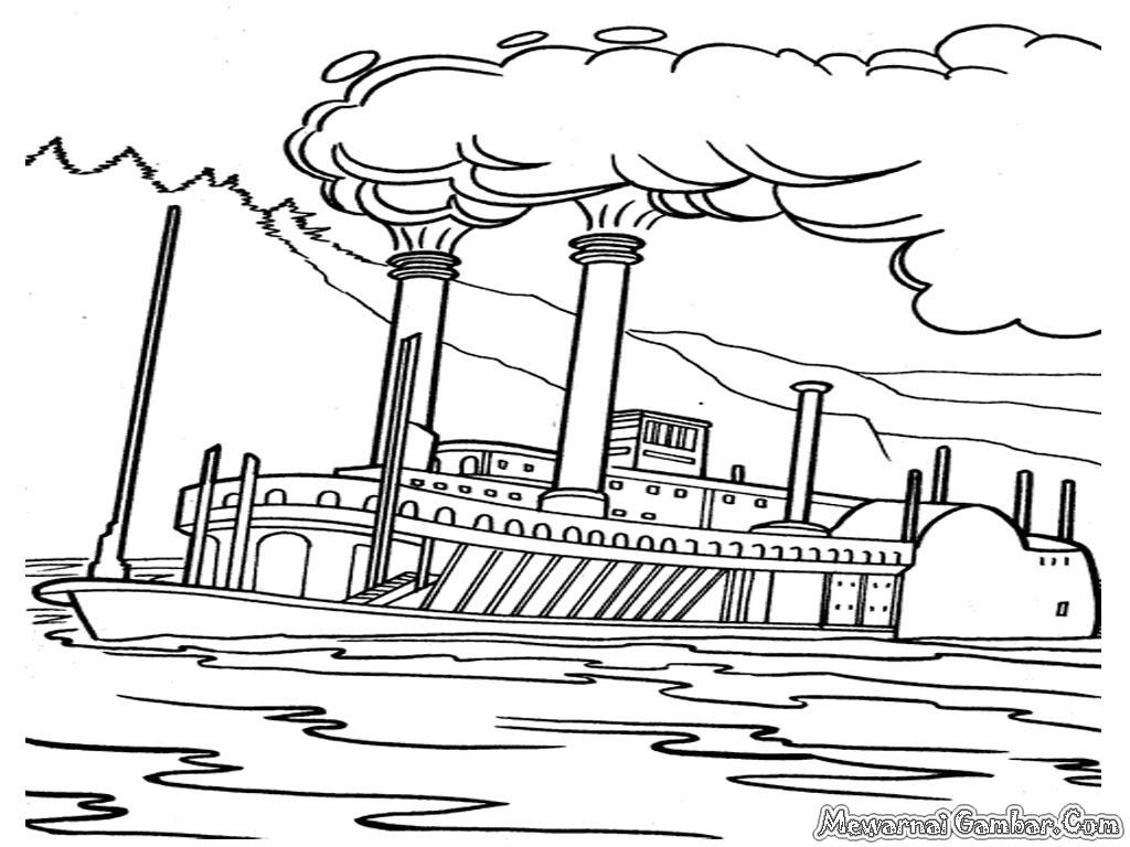 Sketsa Kapal Bajak Laut