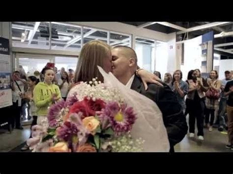 Flash Mob Marriage Proposal at IKEA Sunrise   YouTube What