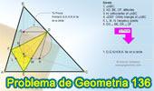Problema de Geometría 136. Triangulo Órtico, Alturas, Circunferencia Inscrita, Puntos de Tangencia, Perpendicular, Puntos Cocíclicos.