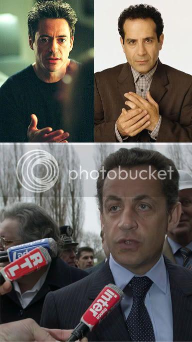Downey Jr., Shalhoub, Sarkozy
