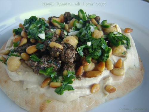 Hummus Kawarma with Lemon Sauce 2