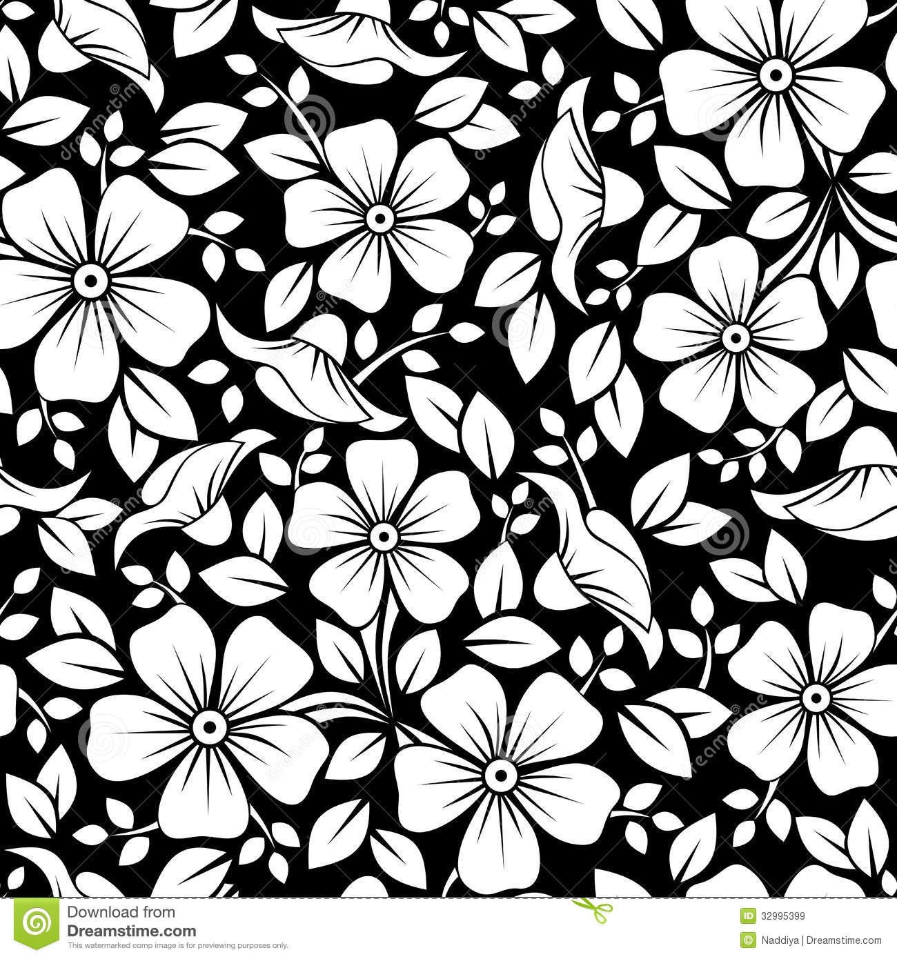 Simple Flower Patterns Black And White Border Corner