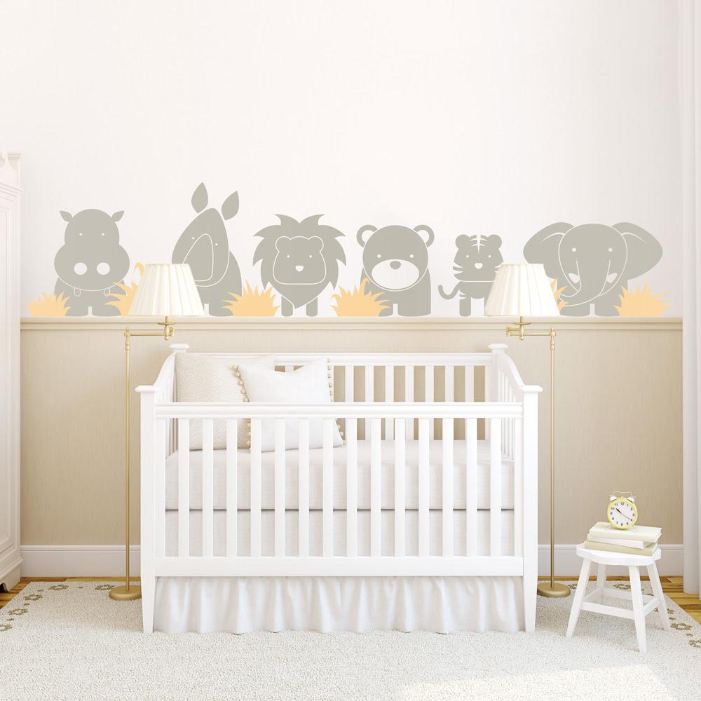 Zoo Babies Wall Decal